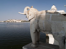 Elephant statue at Jag Mandir palace Stock Image
