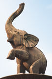Elephant statue at Jinhu square stock images