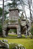Elephant Statue Making Reference At Hannibal, Bomarzo, Italy Stock Photo