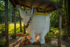 Elephant Statue at Mister Eds. Orrtanna, PA - June 2, 2012: One of over 12,00 elephants of all sizes at Mister Eds Elephant Museum and Candy Emporium Stock Photos