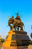 The elephant statue,Monument of King Thailand Royalty Free Stock Images