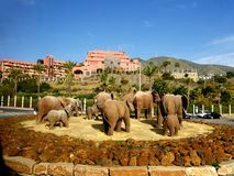 Elephant statue on Roundabout in Fuengirola on the Costa del Sol in Spain Stock Photos