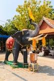 Elephant statue at Samaesarn Temple Royalty Free Stock Photos