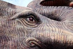 elephant statue, statue of elephant face marble texture close-up royalty free stock images