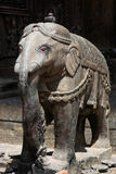 Elephant statue in temple Royalty Free Stock Photo
