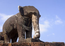 Elephant statue in a temple Royalty Free Stock Image