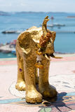 Elephant statue. At temple in SriChang Island Thailand Stock Photo