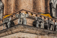 Elephant statue of Wat Chedi Luan(Temple) in Chiang Mai, Thailand. popular tourist destination. Stock Image