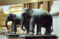 Elephant Statues. Wonderful elephant statues decorate the Grand Palace in Bangkok, Thailand Stock Photography