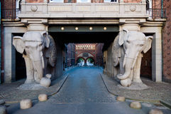 Elephant statues in Carlsberg factory, Copehagen Stock Photo