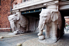 Elephant statues in Copehagen Royalty Free Stock Photo