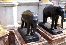 Elephant statues in The Grand Palace, Bangkok, Thailand, Asia Royalty Free Stock Images