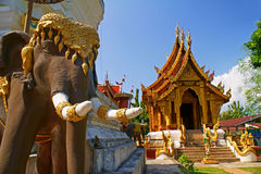 Elephant statues. This is a elephant statues at thai church royalty free stock photography