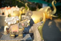 Elephant statues in Thailand Stock Photography