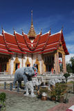 Elephant statues at Wat Chalong, Phuket, Thailand Royalty Free Stock Photography