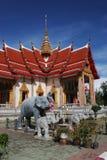 Elephant statues at Wat Chalong, Phuket, Thailand royalty free stock photography