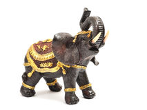Elephant statuette. Statuette elephant isolated on white Royalty Free Stock Photo