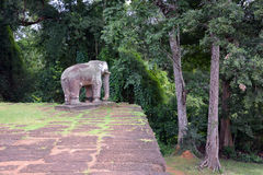 Elephant stone carving royalty free stock photos