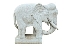 Elephant stone statue Royalty Free Stock Photos