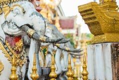 Elephant Stone Statue Stock Photo
