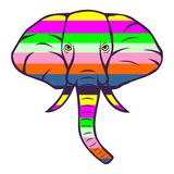 Elephant stripe vector. For wallpaper wall Royalty Free Stock Image