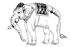 Elephant stripes Thailand Royalty Free Stock Photography