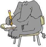 Elephant Student royalty free illustration