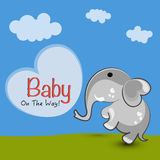 Elephant with stylish text. Stock Image