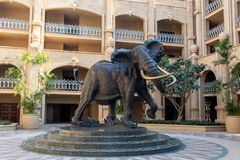 Elephant in Sun City, Lost City in South Africa royalty free stock photos