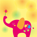 Elephant on a sunny day Royalty Free Stock Images