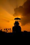 Elephant and Sunset Stock Photos