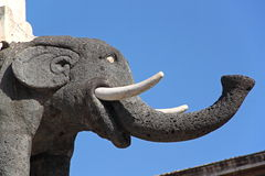The Elephant, symbol of Catania, Italy Stock Photos