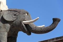 The Elephant, symbol of Catania, Italy Stock Photos