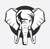 Elephant symbol Royalty Free Stock Images