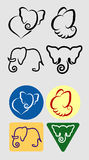Elephant symbols Stock Photo
