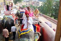 Elephant taxi Stock Image