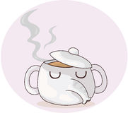 Elephant teapot Stock Images