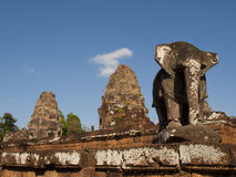 Elephant and temples in Eastern Mebon, Siem Reap Stock Photo