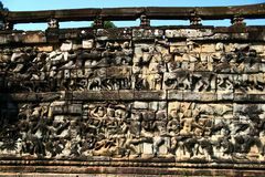 Elephant Terrace,Angkor Royalty Free Stock Images