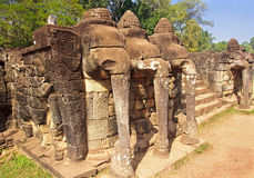 Elephant Terrace in Angkor Thom Royalty Free Stock Image