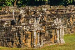 Elephant terrace Angkor Thom Cambodia Stock Photos