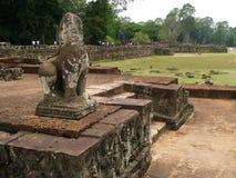 Elephant Terrace, Angkor Thom, Siem Reap. Ruins next to the Elephant Terrace, Siem Reap, Cambodia Stock Photo