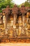 Elephant Terrace, Ankgor Thom Royalty Free Stock Photos