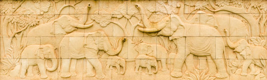 Elephant Thai sandstone Royalty Free Stock Photography