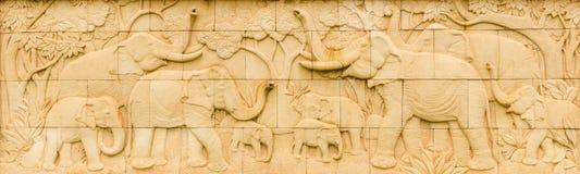 Elephant Thai sandstone royalty free stock photography