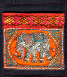 An elephant Thai traditional art handcraft style. An elephant image made from Thai traditional art handcraft style Stock Photos