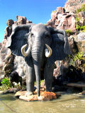 Elephant in a theme park. African adventure is the theme of this amusement park where is featured this elephant Stock Photo