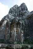 Elephant three heads at  tom gates in Cambodia Royalty Free Stock Photography