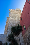 Elephant tower or Torre dell'Elefante in Castello downtown district, Cagliari, Sardinia. Italy stock photography
