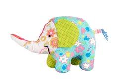 Elephant toy isolated on white Royalty Free Stock Photography